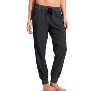 Athleta Charcoal Gray Stripe City Jogger Pants Lightweight Relaxed Pockets 4